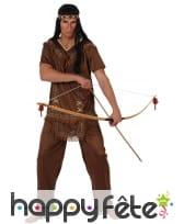 Haut et pantalon marron d'indien pour adulte