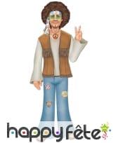 Homme hippie décoratif de 94cm, en carton