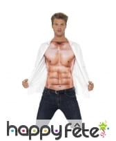Haut imprimé de faux muscles, réaliste, image 1