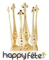 Haute mini couronne dorée de reine pour fille