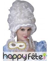 Haute perruque blanche baroque pour femme