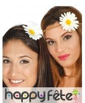 Headband tressé avec une fleur blanche pour adulte, image 1