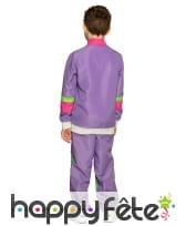Jogging années 80 violet pour enfant, image 1