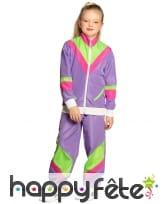 Jogging années 80 violet pour enfant, image 2