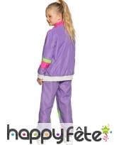 Jogging années 80 violet pour enfant, image 3