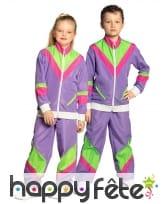 Jogging années 80 violet pour enfant, image 4