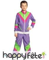 Jogging années 80 violet pour enfant