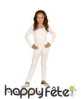 Justaucorps blanc uni pour enfant