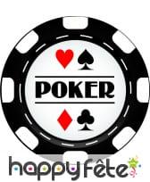 Jeton de poker en carton