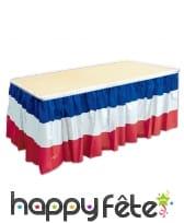 Jupe de table drapeau Français bleu blanc rouge