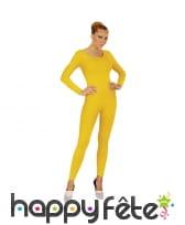 Justaucorps jaune uni pour femme