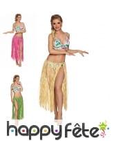 Jupe longue hawaïenne en raphia pour adulte