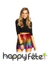 Jupe multicolore à sequins pour femme, image 1
