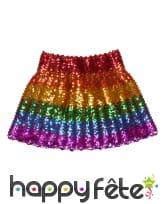 Jupe multicolore à sequins pour femme, image 2