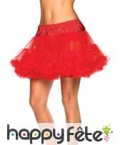 Jupon rouge pour femme, 37cm