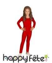 Justaucorps rouge uni pour enfant