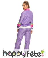 Jogging rétro violet années 80 pour femme, image 1