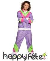 Jogging violet années 80 pour homme