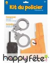 Kit accessoires de policier pour enfant, image 1
