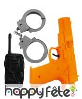 Kit accessoires de policier pour enfant