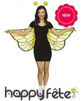 Kit abeille pour adulte, ailes et serre tête