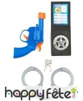 Kit accessoires Policier pour enfant, en plastique