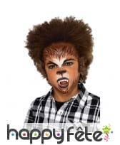 Kit cosmétique de loup-garou pour enfant, à l'eau