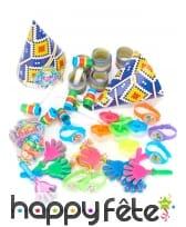 Kit cotillons de fête multicolores pour 6 enfants