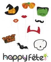Kit de 10 photobooths sur le thème Halloween