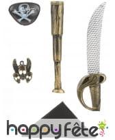 Kit d'accessoires de pirate pour enfant