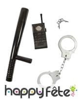 Kit d'accessoires de policier pour enfant