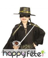 Kit d'accessoires de Zorro pour enfant