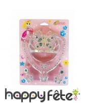 Kit de bijoux de princesse pour fillette