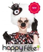 Kit de clown sinistre, col gants et chapeau