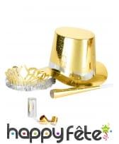 Kit de cotillons hologramme doré, image 2