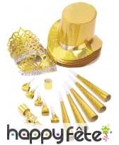 Kit de cotillons hologramme doré, image 3