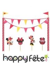 Kit de décoration Minnie café pour gâteau