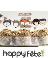 Kit de décorations pour cupcake animaux de forêt, image 1