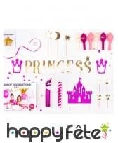 Kit de décos pour anniversaire de princesse