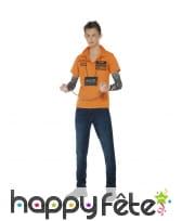 Kit déguisement de détenu orange pour adolescent