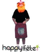 Kilt d'écossais avec fausse fourrure