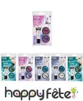 Kit de fines paillettes cosmétiques à thème en pot