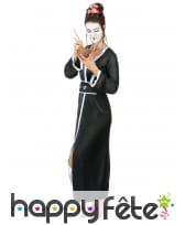 Kimono de geisha noir pour femme, image 1