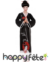 Kimono de geisha noir pour femme, image 3