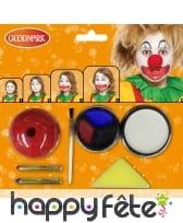 Kit de maquillage clown pour enfant, image 1