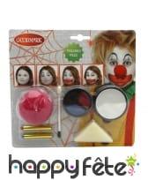 Kit de maquillage clown pour enfant