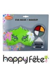 Kit de maquillage de fée verte avec masque, enfant