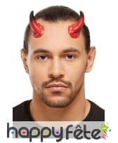 Kit de maquillage diable noir et rouge pour adulte, image 1