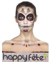 Kit de maquillage jour des morts, décalcomanies, image 4