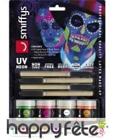Kit de maquillage jour des morts néon UV, image 6
